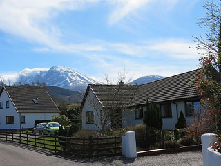 Mayfield B&B near Fort William with Ben Nevis in the background