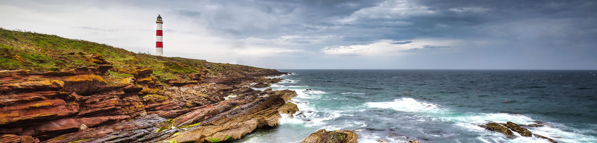 Tarbat Ness Lighthouse near Easter Ross