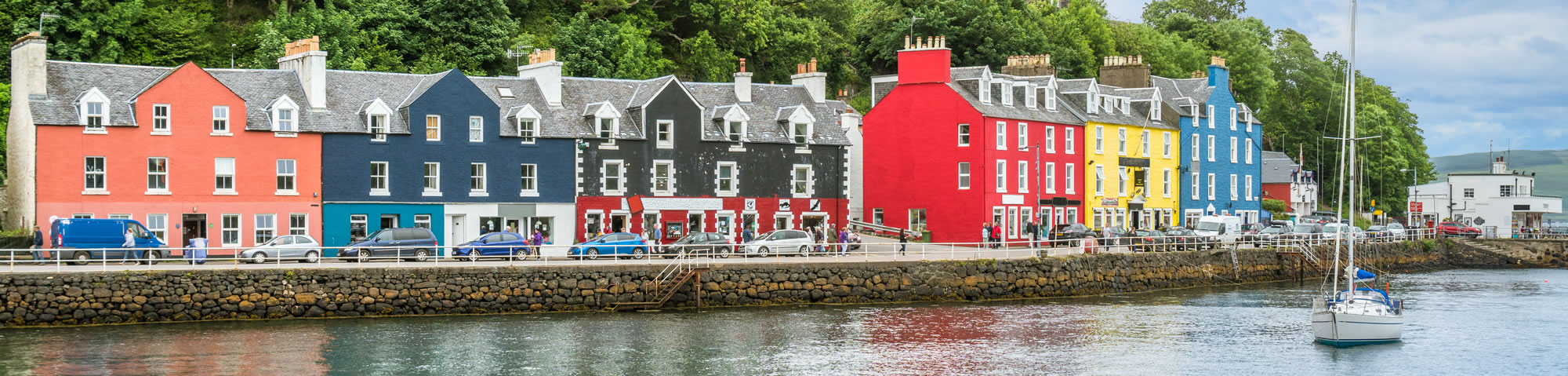 Tobermory, capital of the Isle of Mull in the Scottish Inner Hebrides