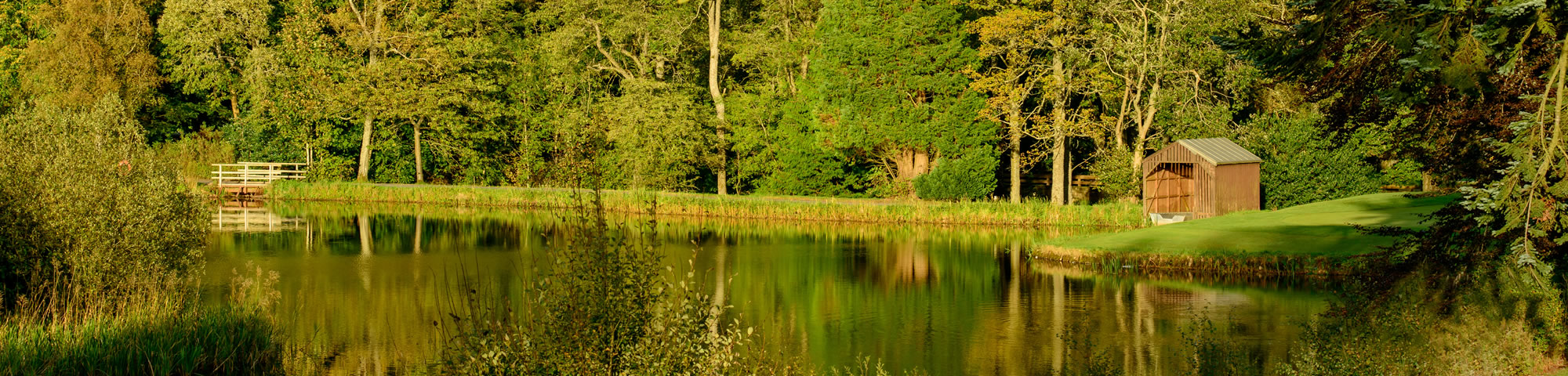 A trout fishing loch within the grounds of Gleneagles Hotel
