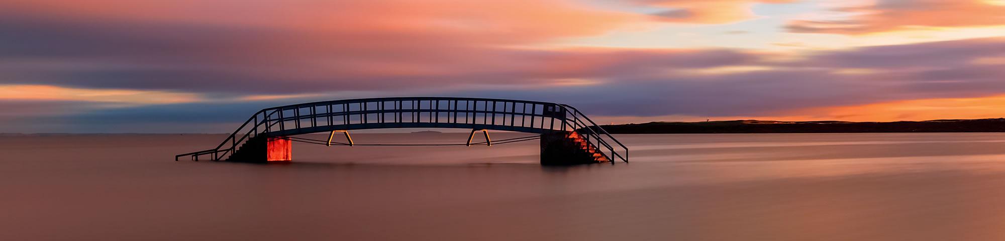 Bridge to Nowhere, Biel, Dunbar, Scotland