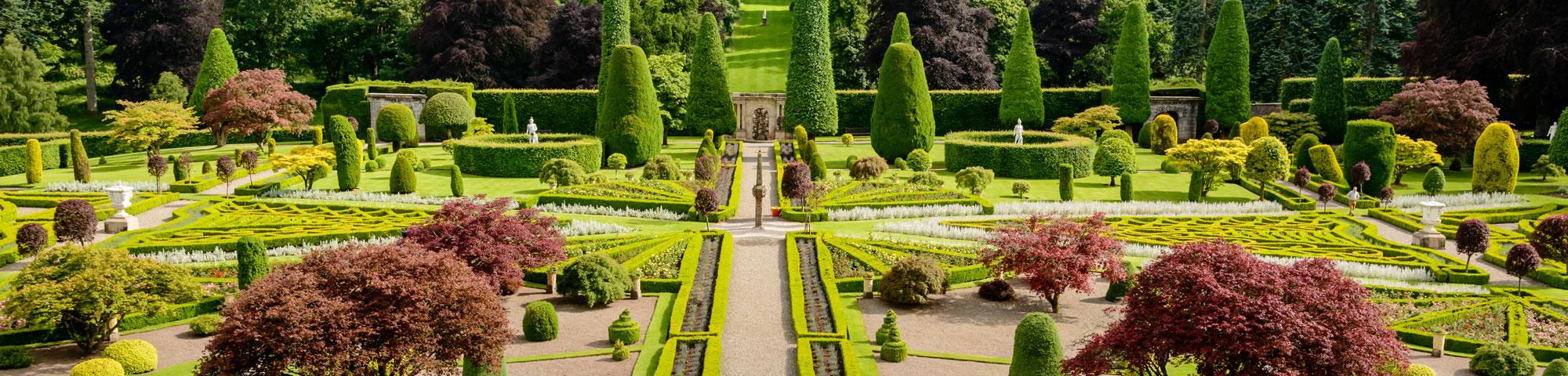 Drummond Castle Gardens near Crieff
