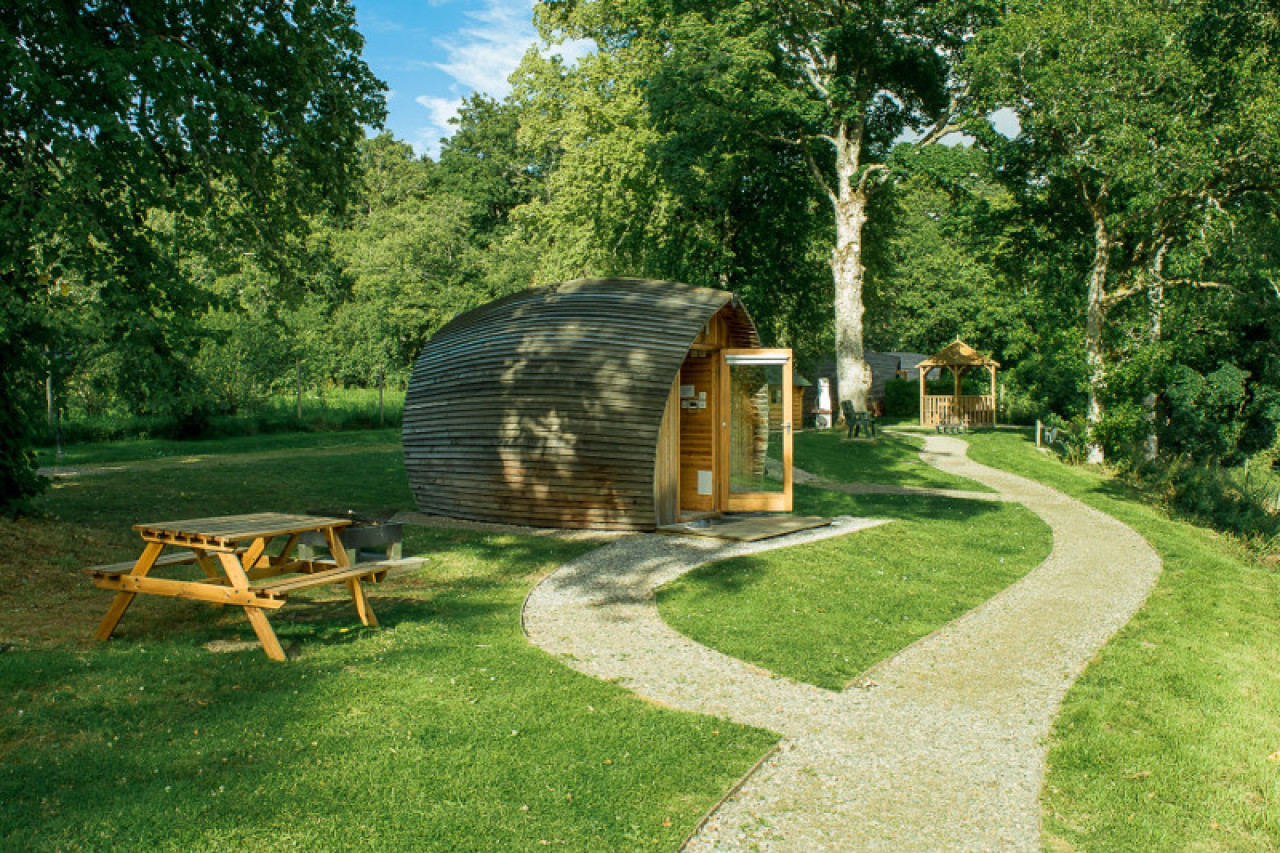 Glamping with private space