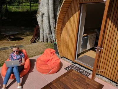 Chill outside your glamping pod