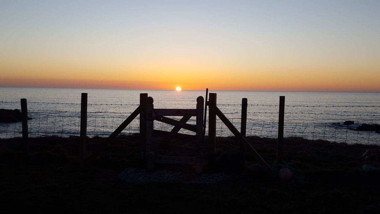 Hebridean Croft sunset
