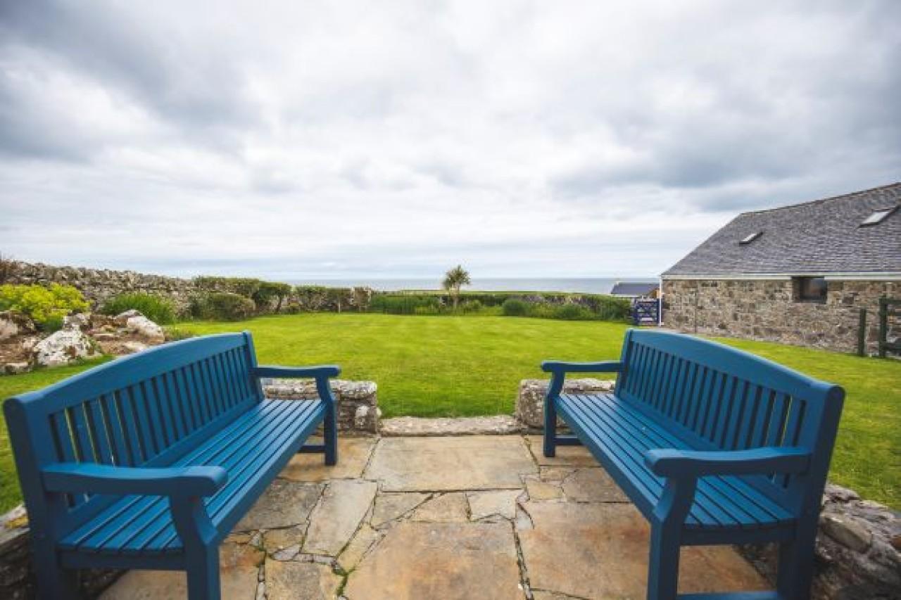 Garden view to the Atlantic Ocean