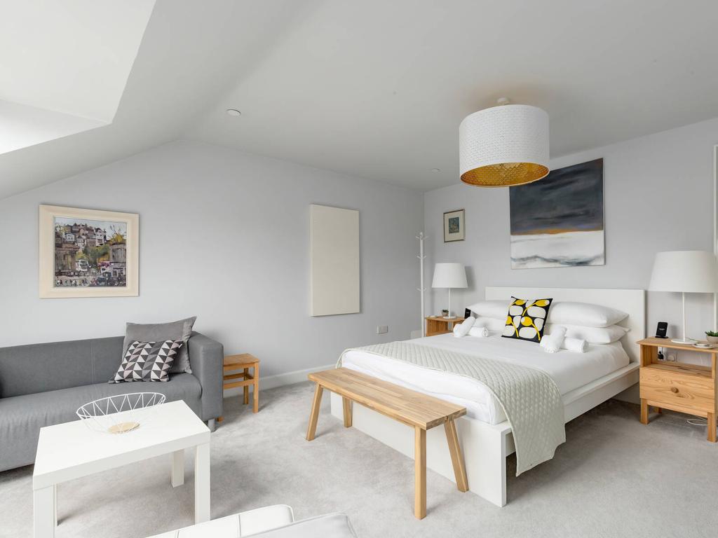 Calton Suite Bed at Crecent House in Edinburgh, Scotland