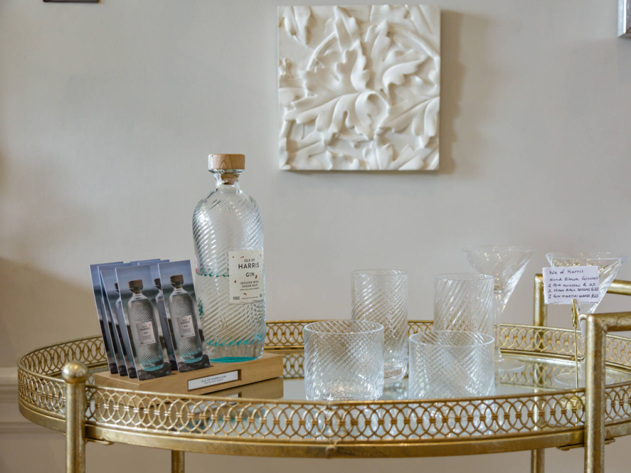 Enjoy a complimentary Isle of Harris Gin Tasting during your stay